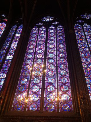 Stained Glass at La Sainte-Chapelle