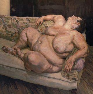 Lucian Freud Massive Nude