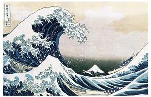 Katsushika Hokusai's Kanegawa Tsunami