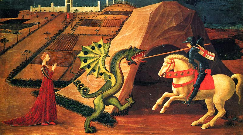 Uccello's StGeorge Slaying the Dragon