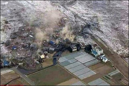 Tsunami Overwhelms Farms