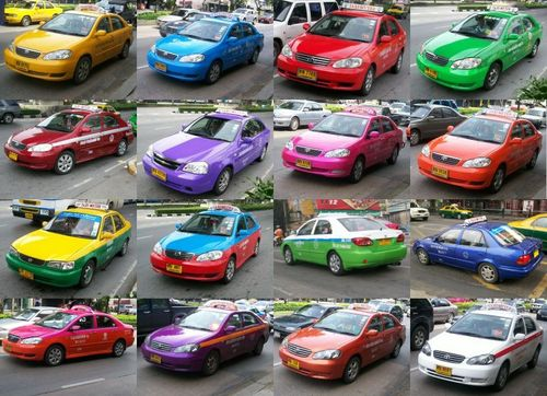 Colorful Bangkok Taxis