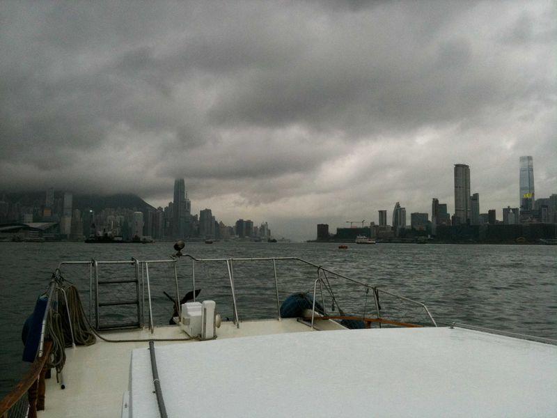 Rainy looking harbour