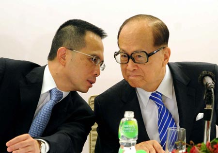 Richard Li and Li Ka-shing