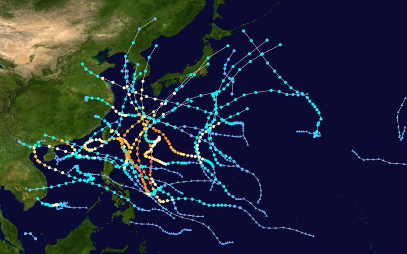 2012 Pacific Typhoon Season Summary