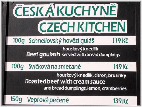 Czech Menu