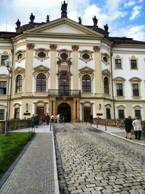 Hradisko Monastery Entrance