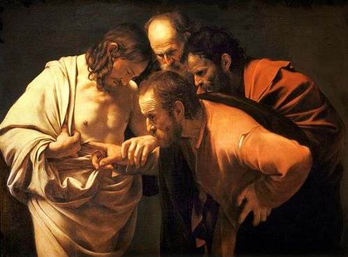 The Incredulity of Saint Thomas – Caravaggio (1601-2)