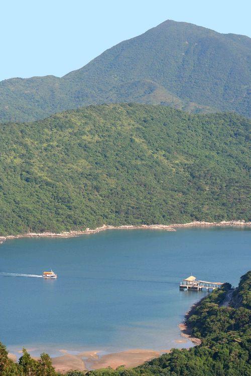 Ferry at Wong Shek and Sharp Peak (2)