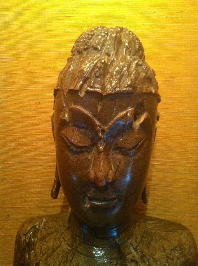 Wooden Buddha at Jim Thompson's