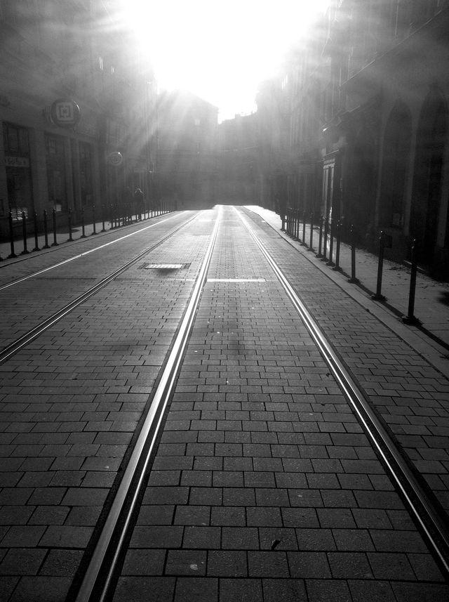 Winter Tram Lines